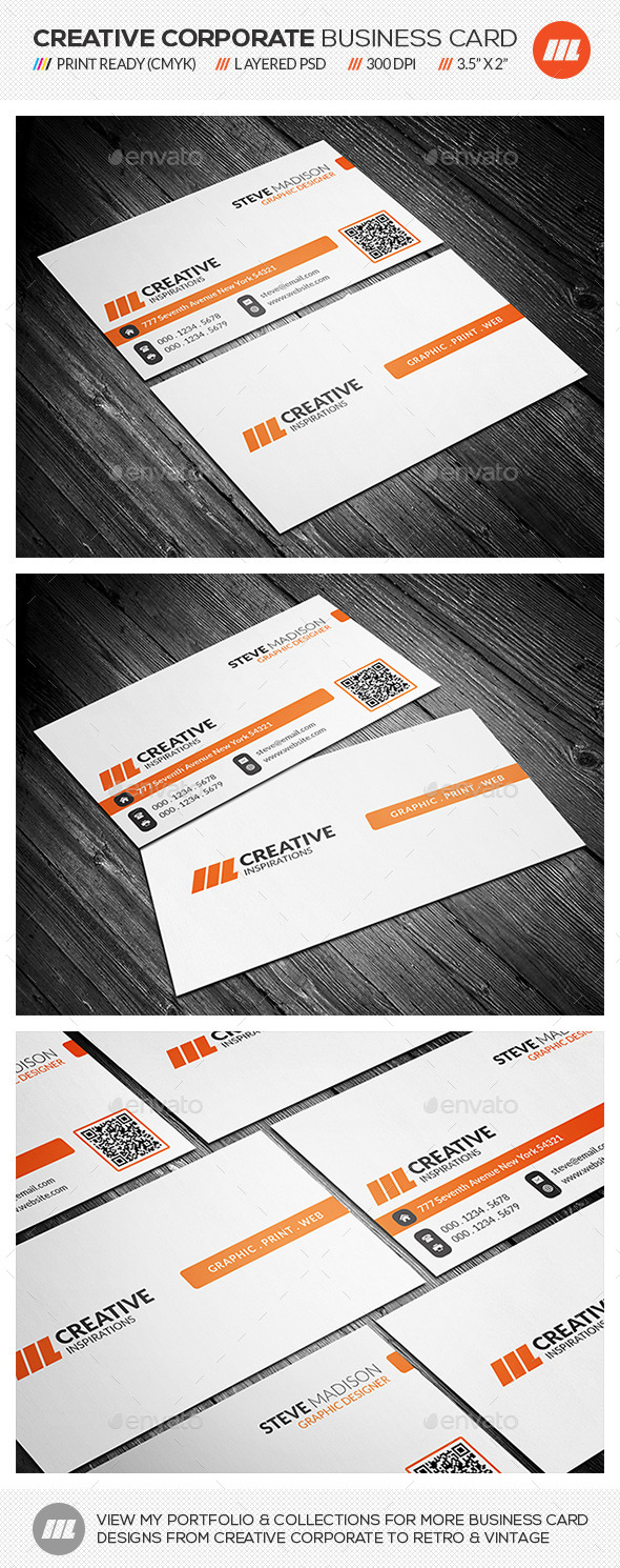 GraphicRiver Clean Corporate Business Card 10818706