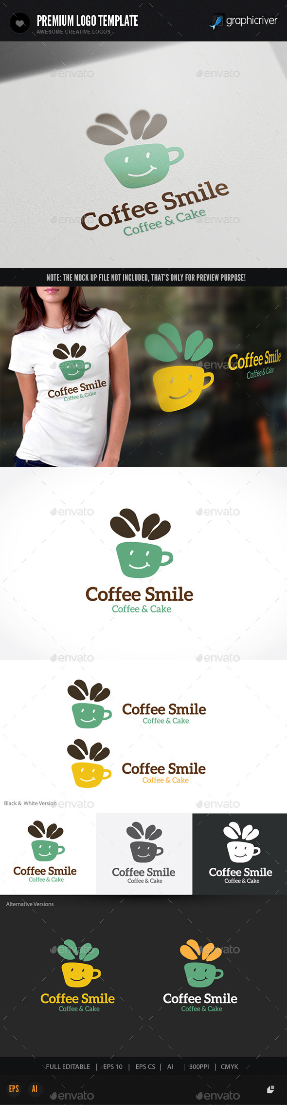 GraphicRiver Coffee Logo 10818707
