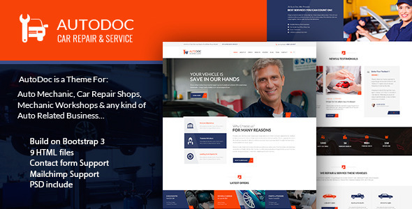 ThemeForest AutoDoc HTML Car Repair Mechanic Shop 10789765
