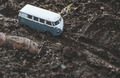 Vintage bus Small metal toy in the nature. - PhotoDune Item for Sale