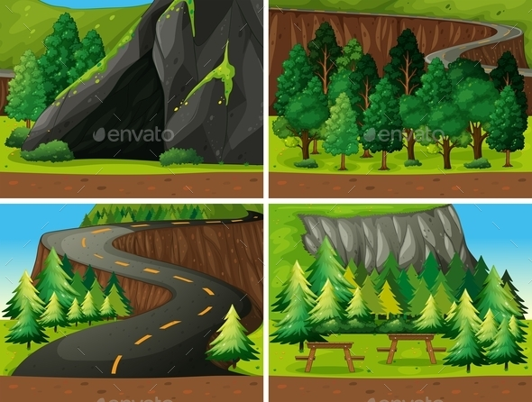 GraphicRiver Forest and Cave 10818913
