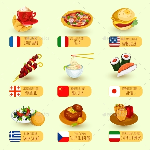 GraphicRiver World Food Set 10819037
