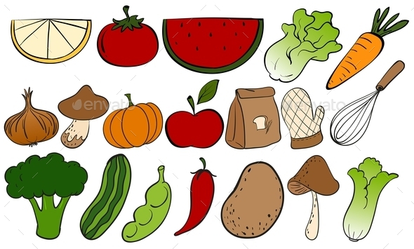 GraphicRiver Fruits and Vegetables 10819224