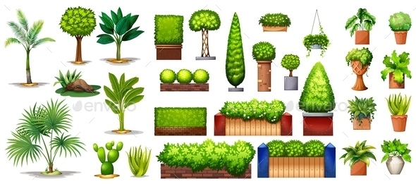 GraphicRiver Different Plants 10819300