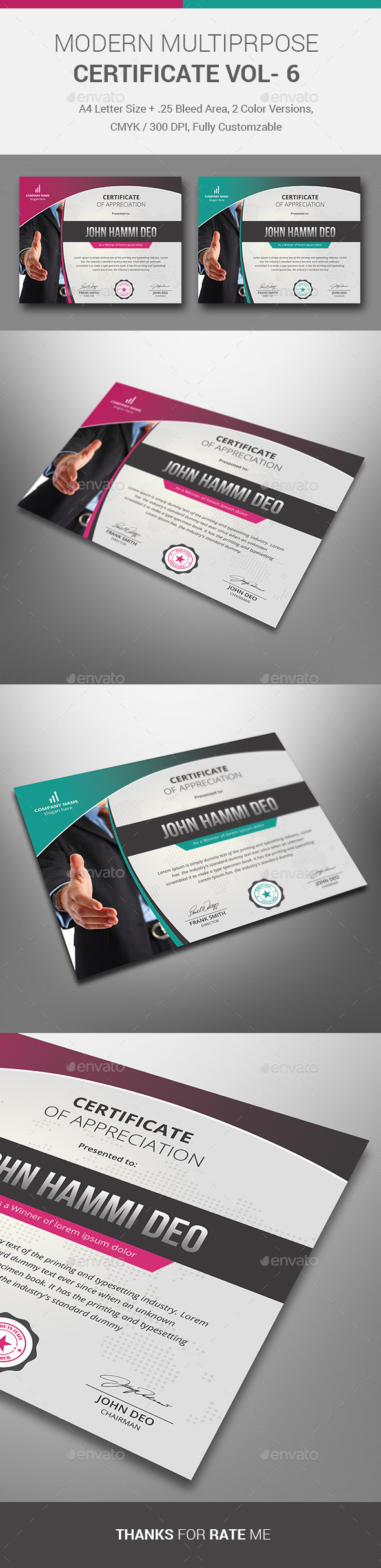 GraphicRiver MODERN MULTIPRPOSE Certificate VOL- 6 10819312