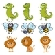 Lion, Chameleon and Bee - GraphicRiver Item for Sale
