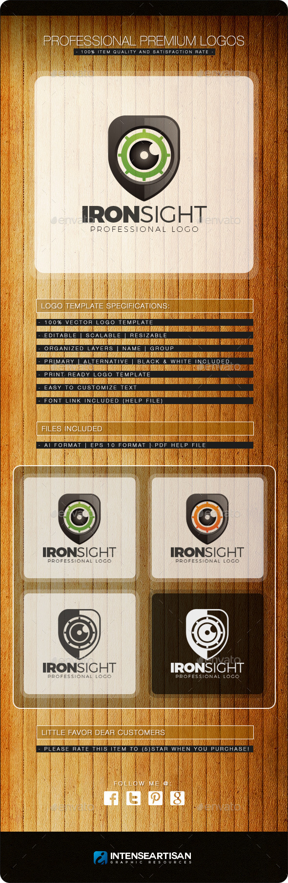 GraphicRiver Iron Sight Logo Template 10819371