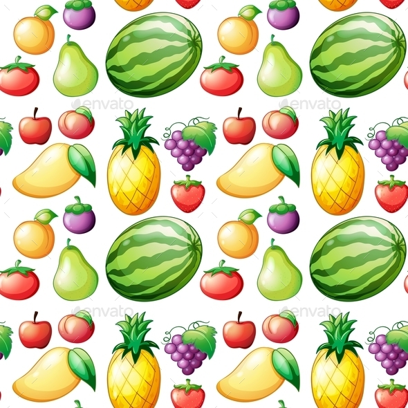 GraphicRiver Seamless Fruit 10819720