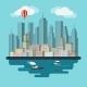 Flat Design Urban Landscape Illustration - GraphicRiver Item for Sale