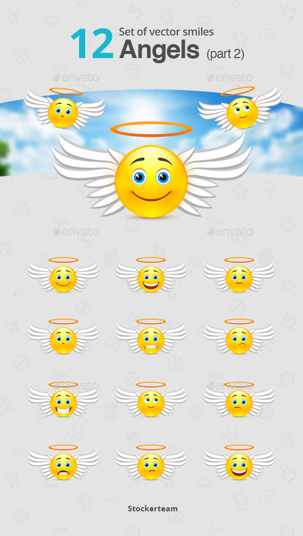 GraphicRiver Set of Angel Smiles Part 2 10819831