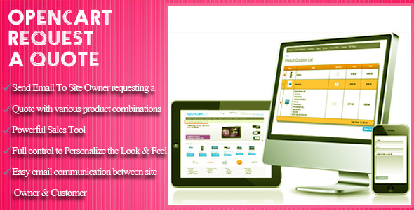 CodeCanyon OpenCart Request a Quote 10819947