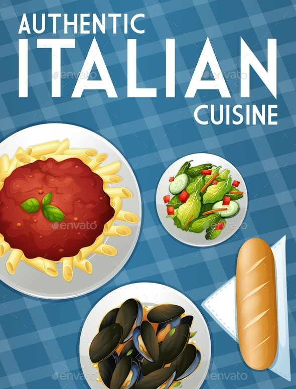 GraphicRiver Italian Food Background 10820104