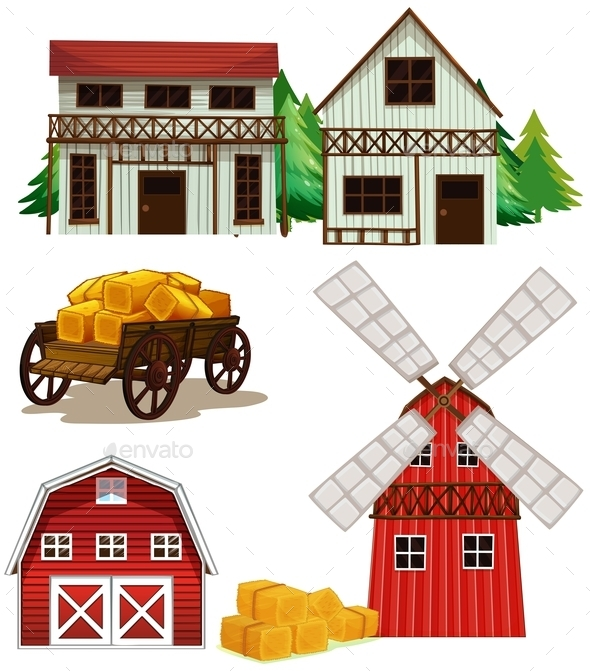 GraphicRiver Farm Buildings 10820248