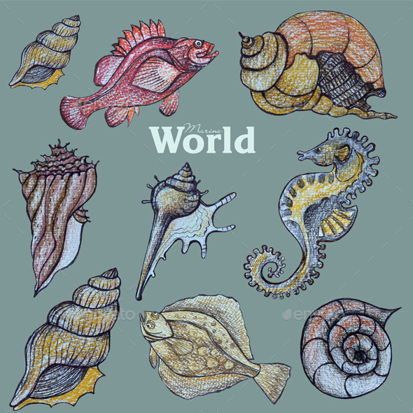 GraphicRiver Marine world 10820390