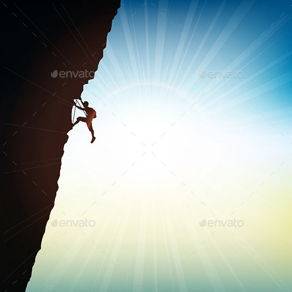 GraphicRiver Extreme Rock Climber 10820590