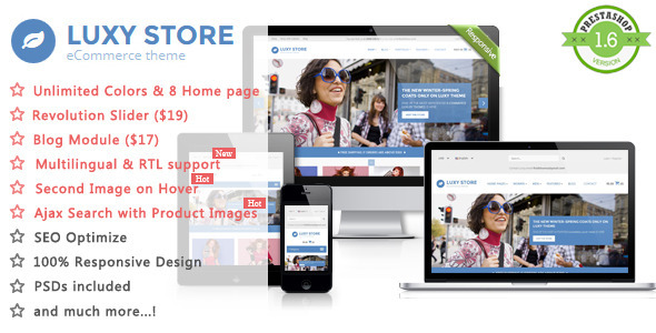 ThemeForest Luxy Fashion Responsive Prestashop Theme 10820602