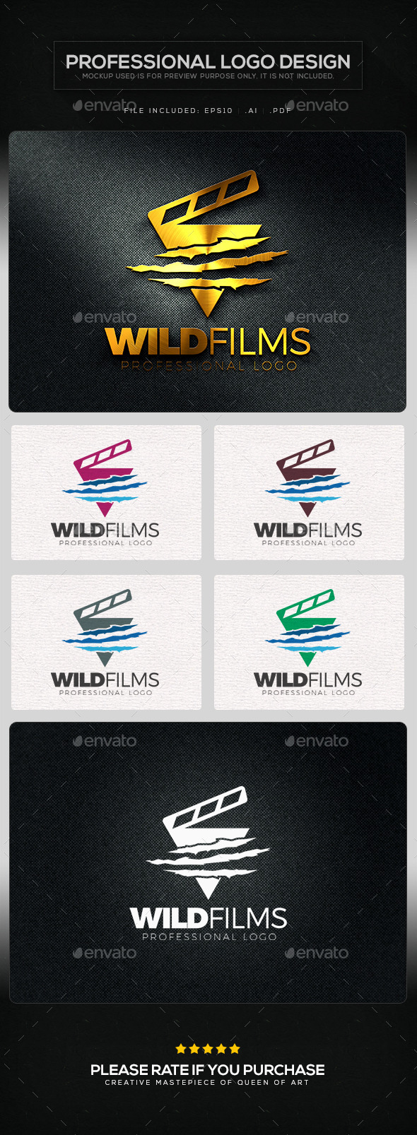 GraphicRiver Wild Films Logo Template 10820669