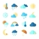 Set of Colorful Weather Icons - GraphicRiver Item for Sale