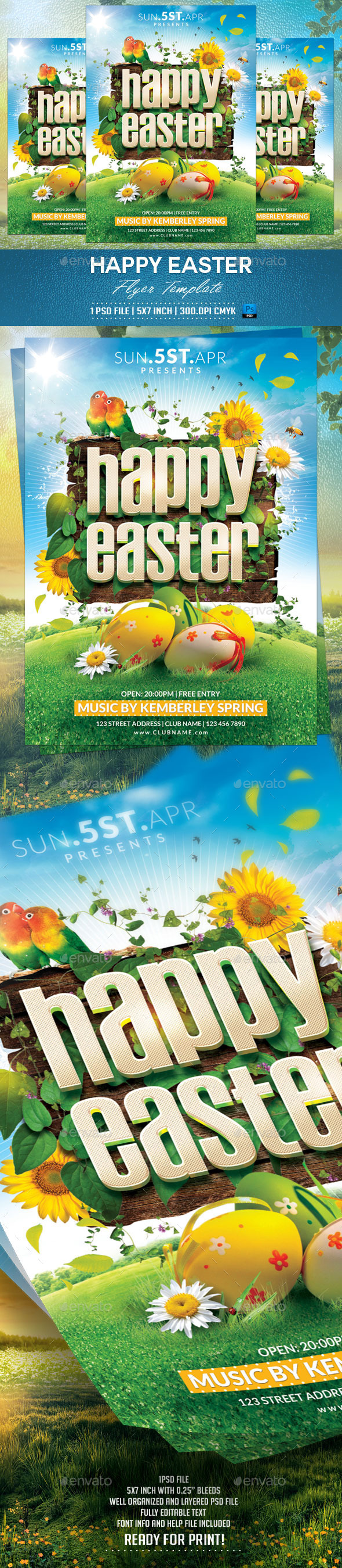 GraphicRiver Happy Easter Flyer Template v2 10820820