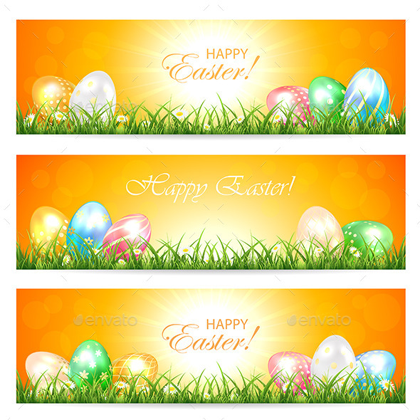 GraphicRiver Easter Cards with Eggs 10820927