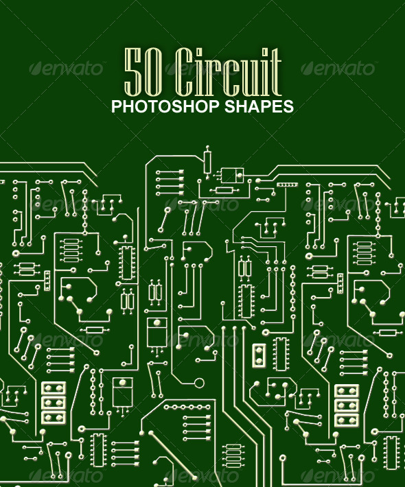Computer Circuit Shapes - Objects Shapes