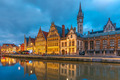 Quay Graslei in Ghent town at morning, Belgium - PhotoDune Item for Sale