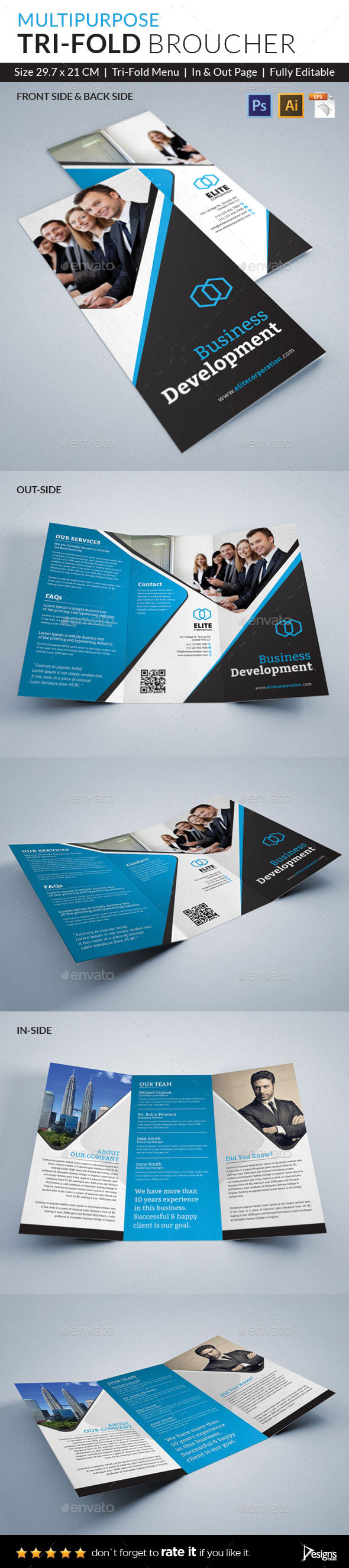 GraphicRiver Trifold Brochure 10821264