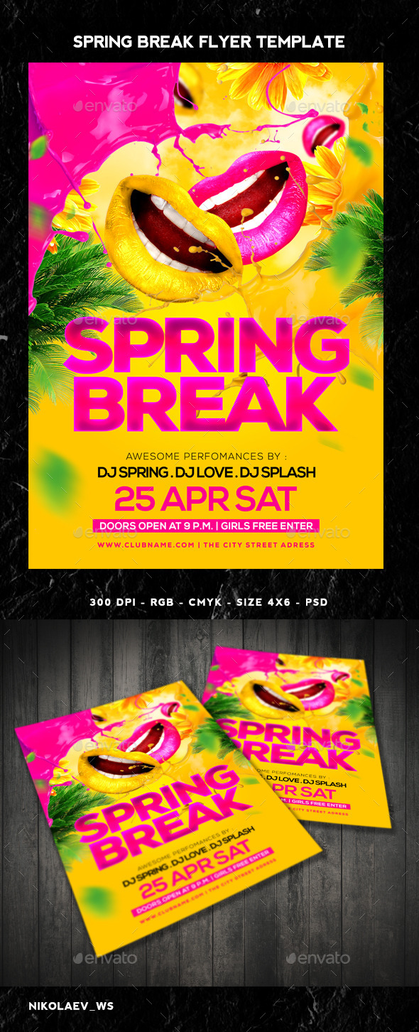GraphicRiver Spring Break Flyer 10821268