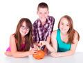 Teenagers saving money for the future