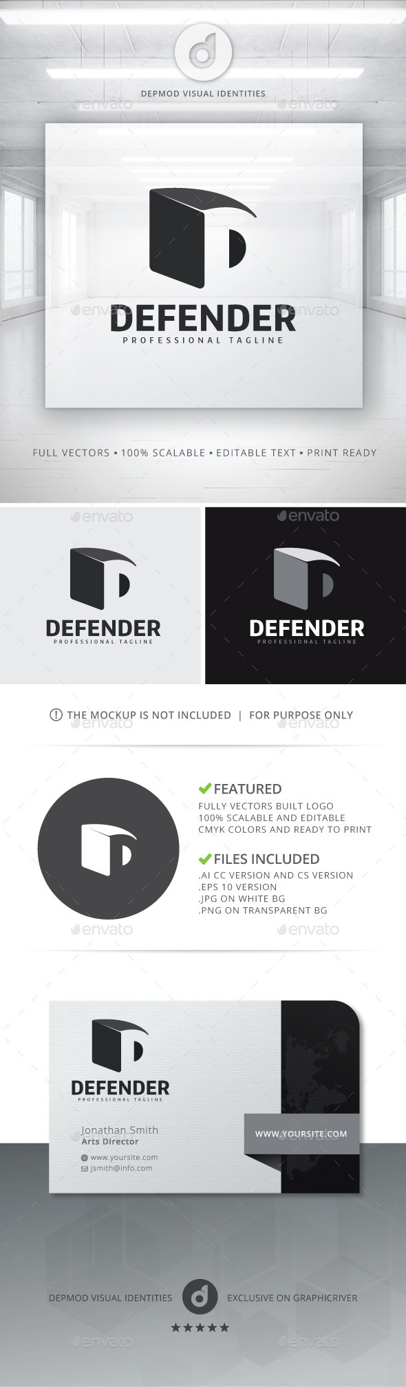 GraphicRiver Defender Logo 10821308