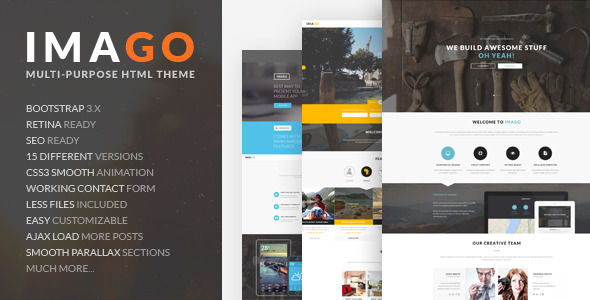ThemeForest Imago Multipurpose HTML5 Template 10821364