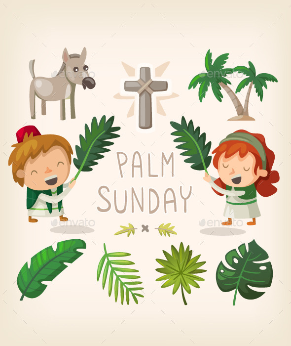 GraphicRiver Palm Sunday Design Elements 10821447