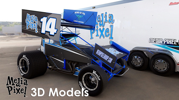 Sprint Car - 3DOcean Item for Sale