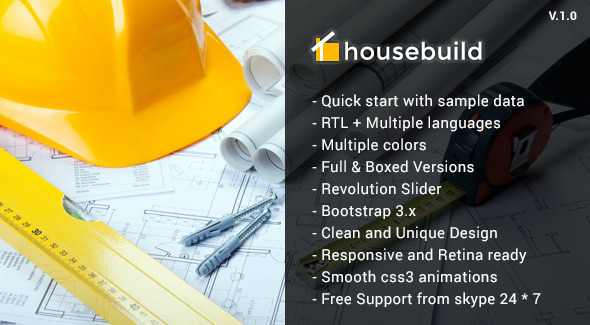 ThemeForest Housebuild Construction Joomla Template 10821465