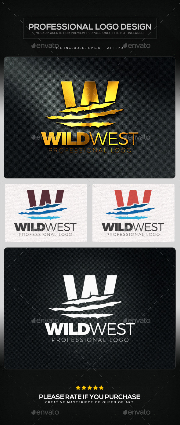 GraphicRiver Wild West Logo Template 10821831