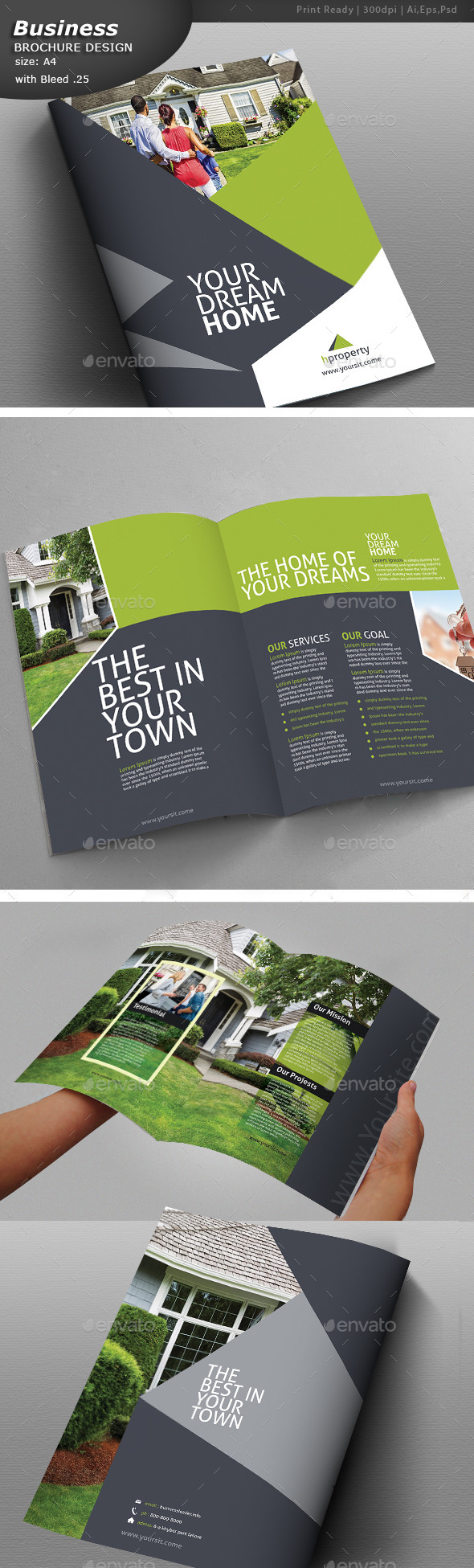 GraphicRiver Property Bi-Fold Brochure Design 10821921