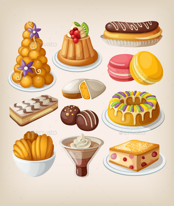 GraphicRiver Traditional French Desserts 10821939