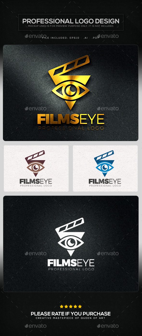 GraphicRiver Films Eye Logo Template 10821945