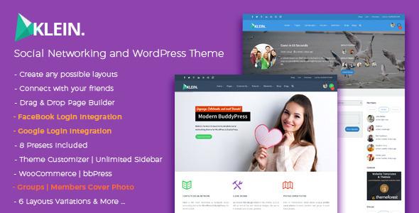 Klein - A Nitty-Gritty Community Theme - BuddyPress WordPress