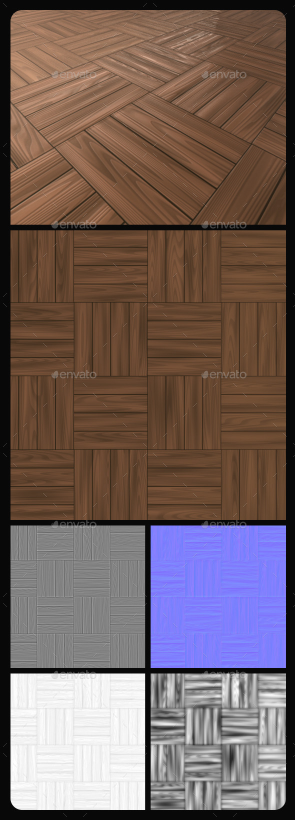 3DOcean Wood Tile Texture 10816119