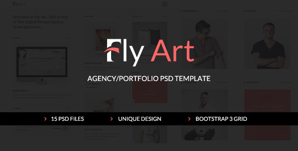 ThemeForest FlyArt Agency Portfolio PSD Template 10822037