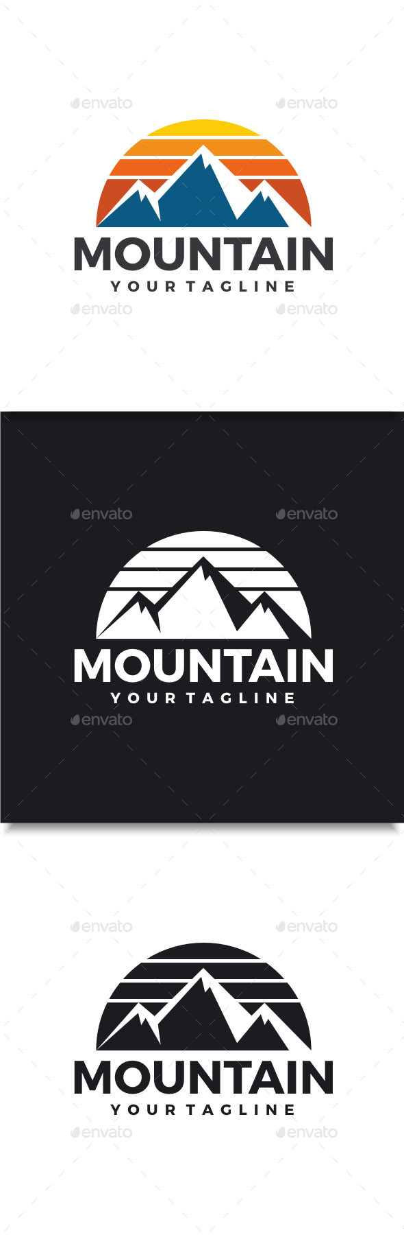 GraphicRiver Mountain Logo 10822059