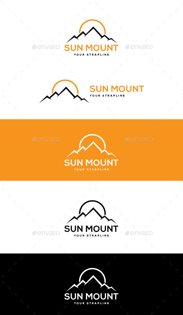 GraphicRiver Sun Mount Logo 10822411