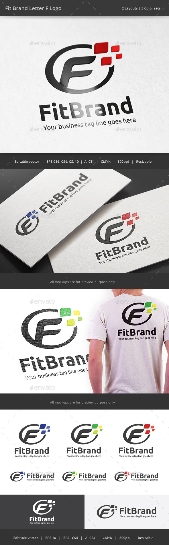 GraphicRiver Fit Brand Letter F Logo 10810392