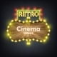 Wooden Cinema Retro Billboard Banner. - GraphicRiver Item for Sale