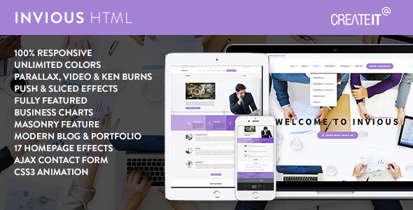 ThemeForest INVIOUS Clean Responsive Corporate HTML Template 10822469