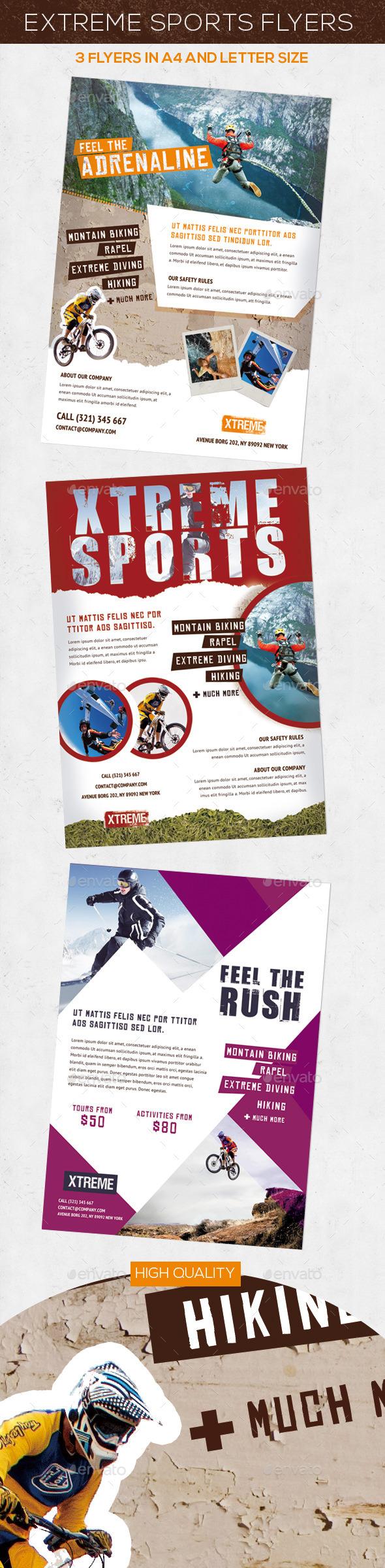 Extreme Sports Flyers / Magazine Ad