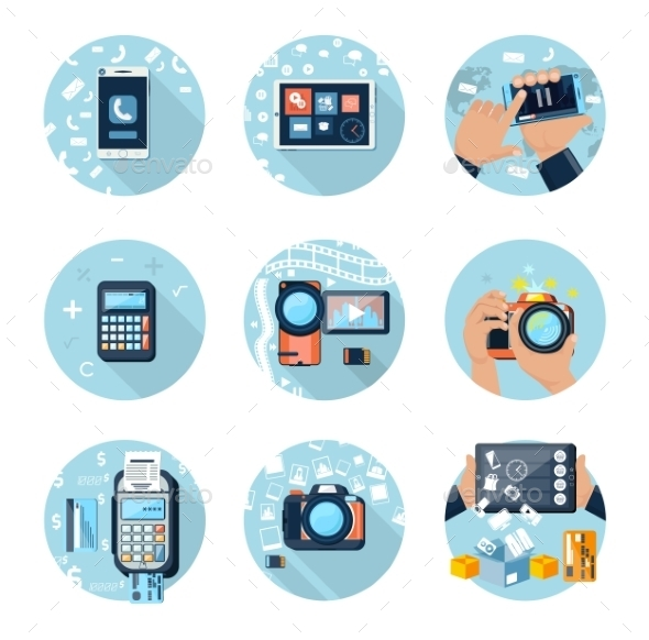 GraphicRiver Set of Devices 10822509