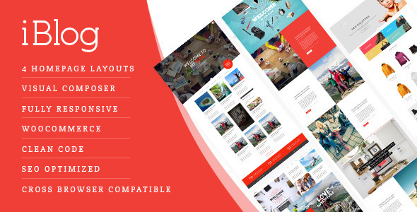 ThemeForest iBlog Creative Responsive WordPress Blog Theme 10822514