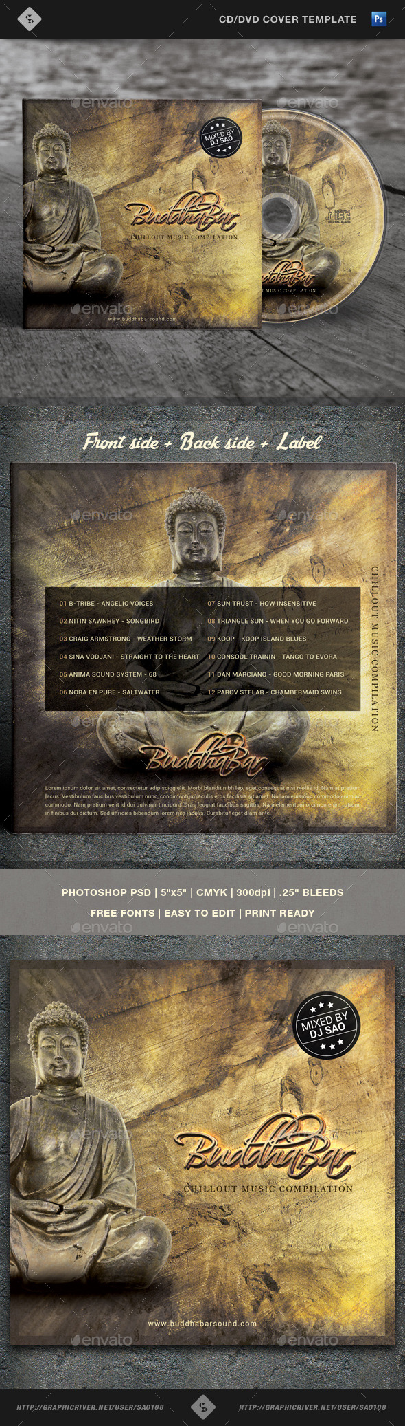 GraphicRiver Buddha Bar Chill Out CD Cover Artwork Template 10822527